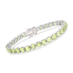 16.00 ct. t.w. Peridot Tennis Bracelet in Sterling Silver, , default