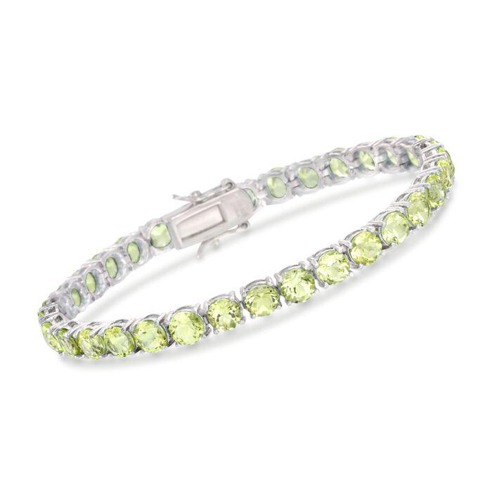 16.00 ct. t.w. Peridot Tennis Bracelet in Sterling Silver, , default