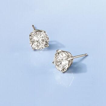 3.00 ct. t.w. Diamond Stud Earrings in 14kt White Gold