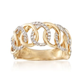 .50 ct. t.w. Diamond Multi-Loop Ring in 14kt Yellow Gold, , default