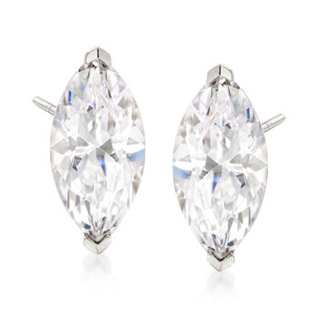 6.00 ct. t.w. CZ Jewelry Set: Three Pairs of Marquise Stud Earrings in Sterling Silver, , default