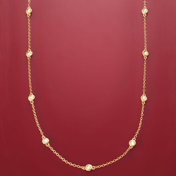.20 ct. t.w. Diamond Station Necklace in 14kt Yellow Gold, , default