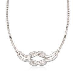 "Italian Sterling Silver Knot Neckalce. 20"", , default"