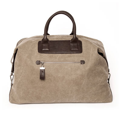 "Brouk and Co. ""Excursion"" Khaki Waxed Canvas Weekender Bag"