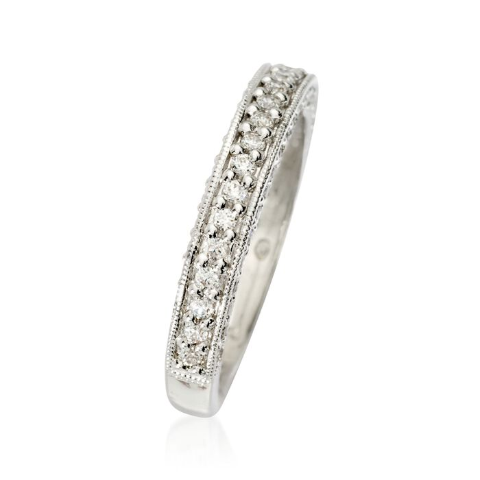 Gabriel Designs .45 ct. t.w. Diamond Wedding Ring in 14kt White Gold