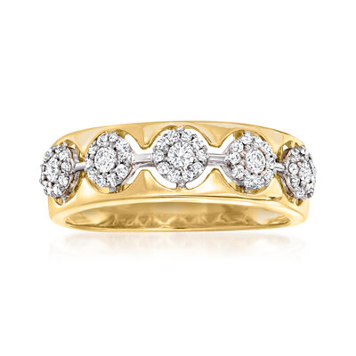 .36 ct. t.w. Diamond Cluster Ring in 14kt Two-Tone Gold