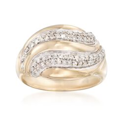 .48 ct. t.w. Diamond Swirl Ring in 14kt Yellow Gold, , default