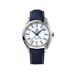 Omega Seamaster Goodplanet Men's 43mm Titanium Watch With Blue Strap, , default