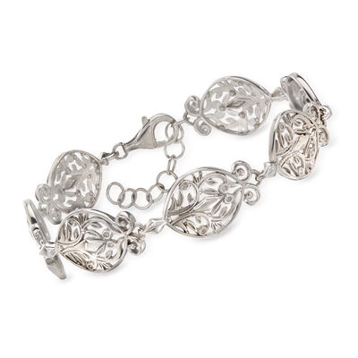 Sterling Silver Filigree-Link Bracelet