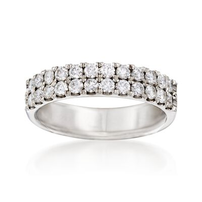 .75 ct. t.w. Diamond Wedding Ring in 14kt White Gold, , default