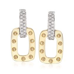 "Robert Coin ""Pois Moi"" .50 ct. t.w. Diamond Drop Earrings in 18kt Two-Tone Gold, , default"