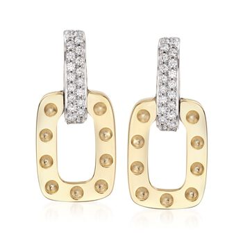 """Robert Coin """"Pois Moi"""" .50 ct. t.w. Diamond Drop Earrings in 18kt Two-Tone Gold , , default"""
