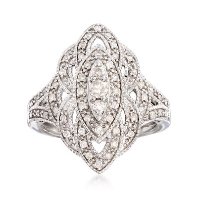 .50 ct. t.w. Diamond Marquise-Shaped Ring in Sterling Silver