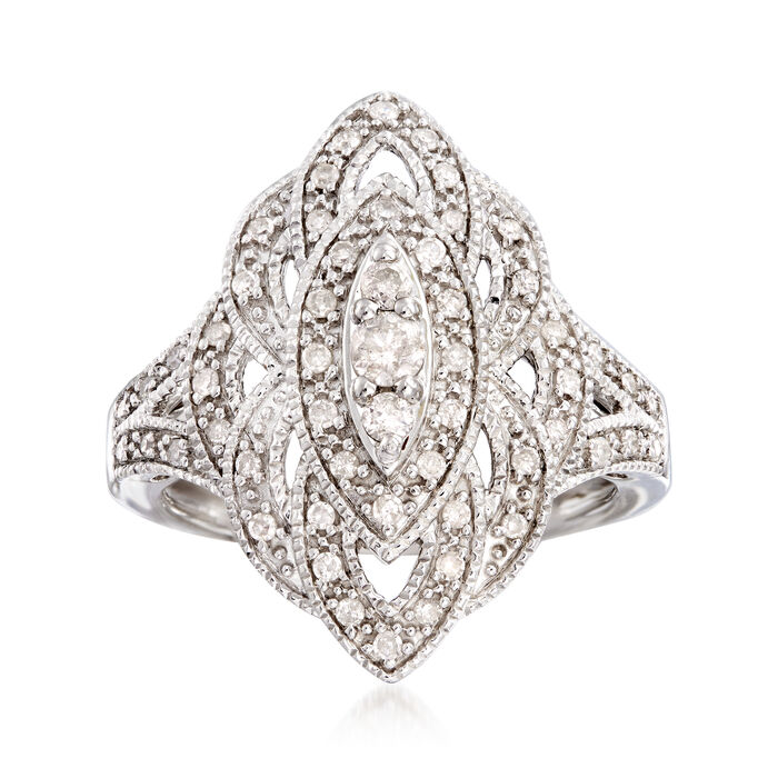.50 ct. t.w. Diamond Marquise-Shaped Ring in Sterling Silver, , default