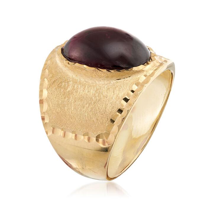 Italian 5.50 Carat Garnet Multi-Finished Ring in 18kt Gold Over Sterling