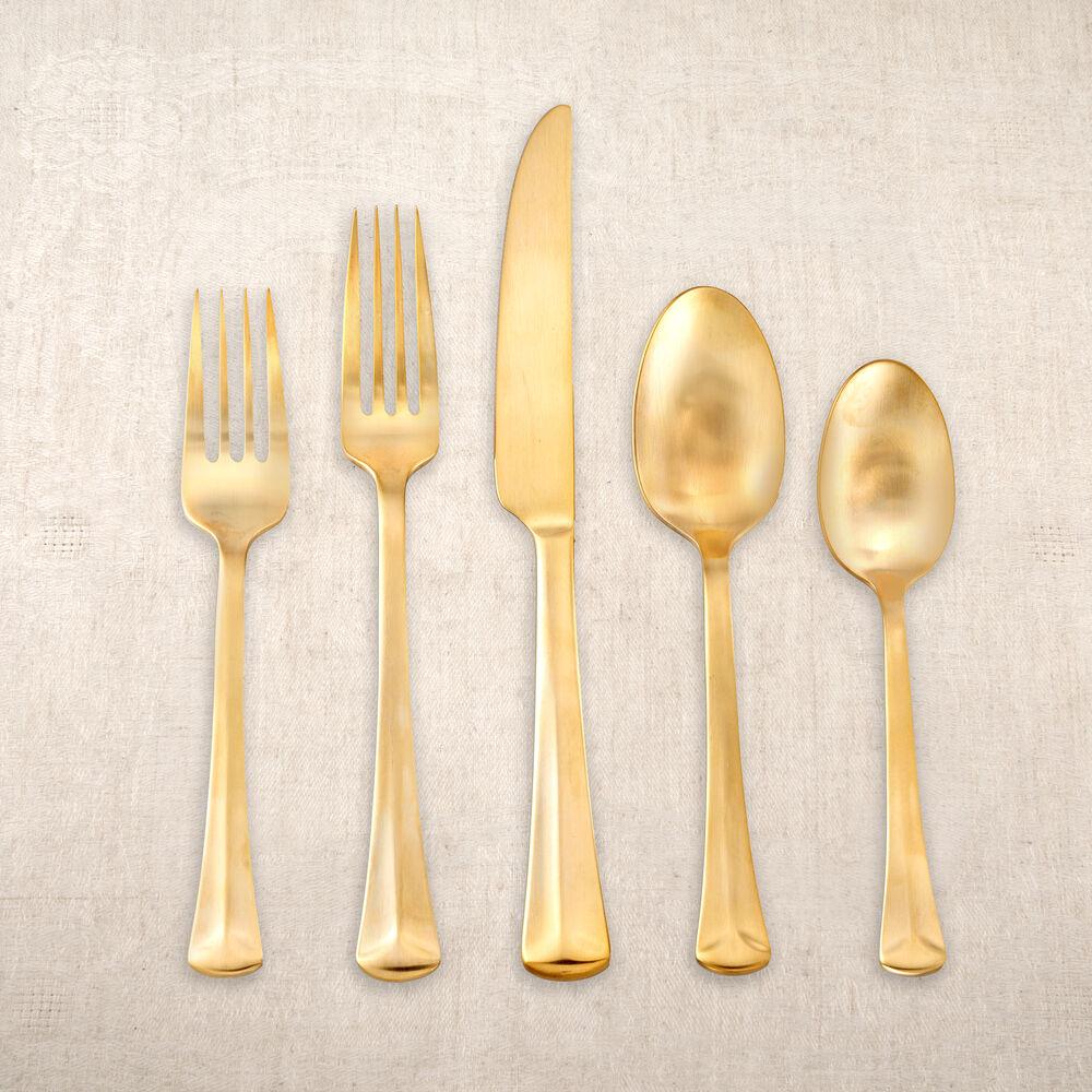 Matte Gold Plated Flatware Set