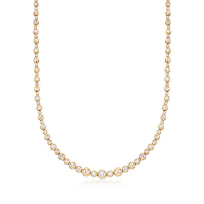 3.50 ct. t.w. Diamond Bubble Bezel Necklace in 14kt Yellow Gold, , default