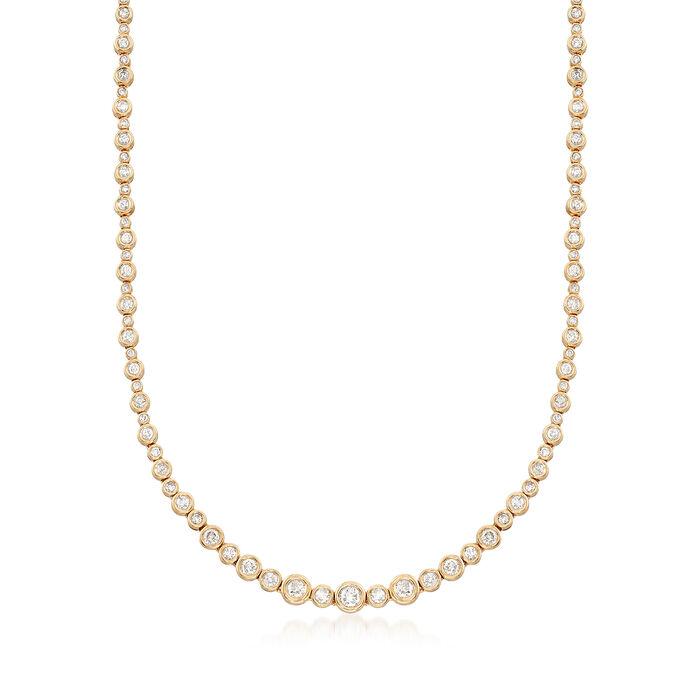 3.50 ct. t.w. Diamond Bubble Bezel Necklace in 14kt Yellow Gold, , default