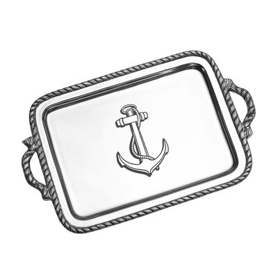 "Wilton Armetale ""Nautical"" Handled Tray, , default"
