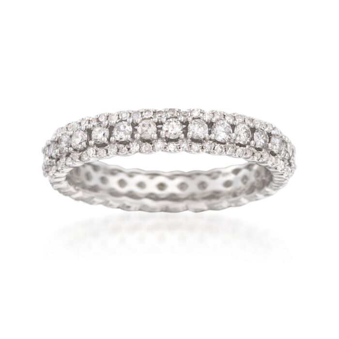 1.00 ct. t.w. Diamond Eternity Band in 14kt White Gold, , default