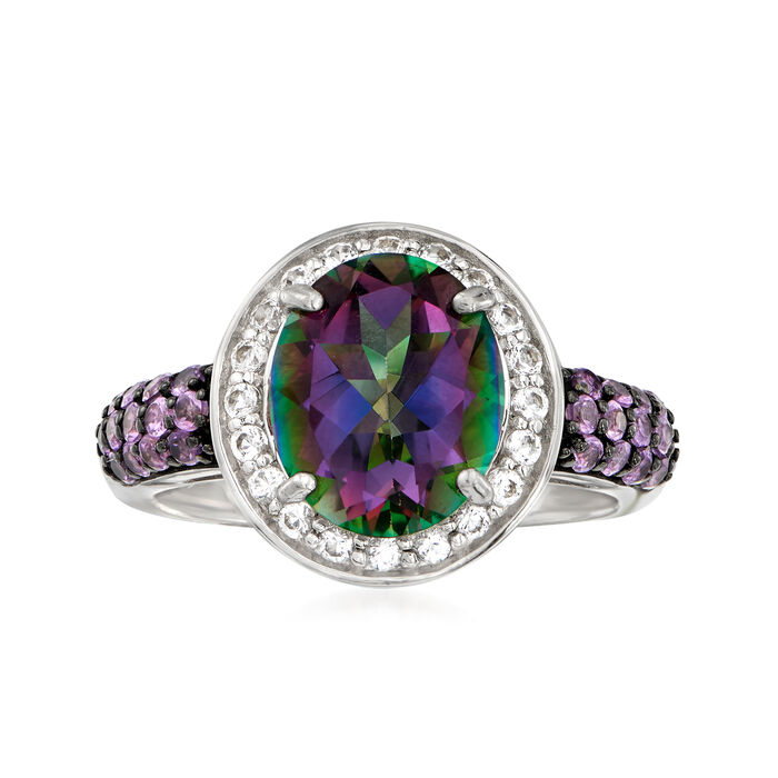 5.30 ct. t.w. Multi-Gemstone Ring in Sterling Silver, , default