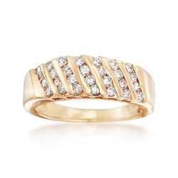 C. 1990 Vintage .85 ct. t.w. Channel-Set Diamond Ring in 14kt Yellow Gold. Size 8.5, , default