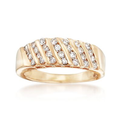 C. 1990 Vintage .85 ct. t.w. Channel-Set Diamond Ring in 14kt Yellow Gold, , default