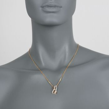 .30 ct. t.w. Diamond Crisscross Pendant in 14kt Two-Tone Gold