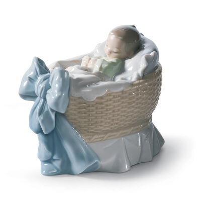 "Lladro ""A New Treasure - Boy"" Porcelain Figurine, , default"