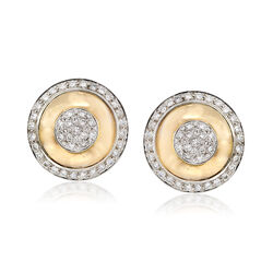 C. 1980 Vintage 4.00 ct. t.w. Diamond Shield Earrings in 14kt Yellow Gold, , default