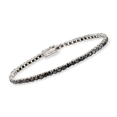 5.00 ct. t.w. Black Diamond Tennis Bracelet in 14kt White Gold
