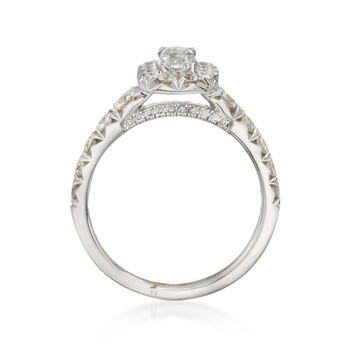Henri Daussi 1.50 ct. t.w. Diamond Engagement Ring in 18kt White Gold