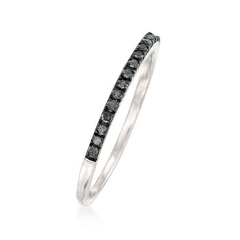 .15 ct. t.w. Black Diamond Anniversary Ring in Sterling Silver, , default