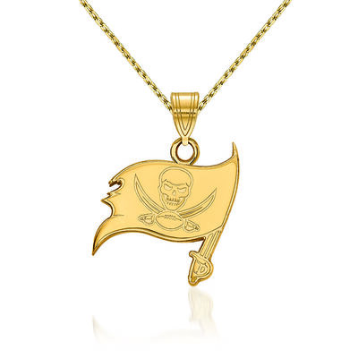 14kt Yellow Gold NFL Tampa Bay Buccaneers Pendant Necklace. 18""