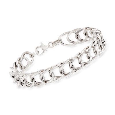 Italian Sterling Silver Oval-Link Bracelet