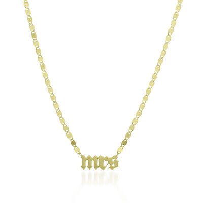 """14kt Yellow Gold """"Mrs."""" Necklace, , default"""