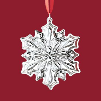 Gorham 2018 Annual Sterling Silver Snowflake Ornament - 49th Edition, , default