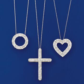 2.00 ct. t.w. Diamond Cross Pendant Necklace in Sterling Silver, , default