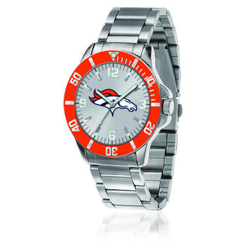 Men's 46mm NFL Denver Broncos Stainless Steel Key Watch, , default