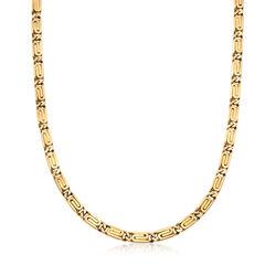 """C. 1990 Vintage 14kt Yellow Gold Snail-Motif Chain Necklace. 23.75"""", , default"""