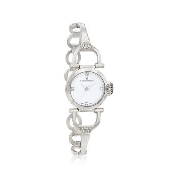 Giorgio Milano Women's 28mm Stainless Steel Link Watch With Swarovski Crystals, , default