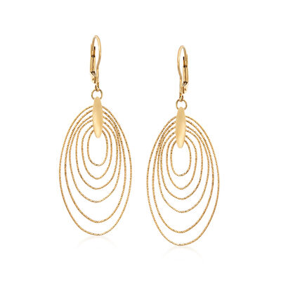 Italian 18kt Yellow Gold Multi-Oval Drop Earrings, , default