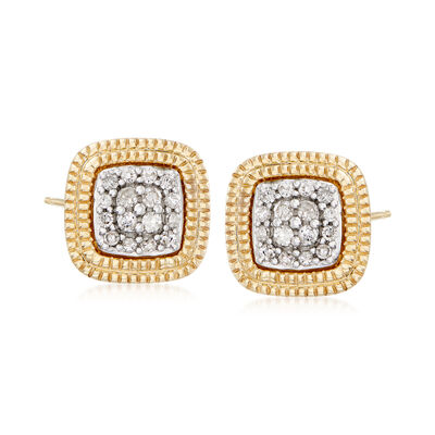 .10 ct. t.w. Diamond Cluster Earrings in 14kt Yellow Gold, , default