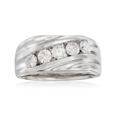 C. 1980 Vintage 1.10 ct. t.w. Diamond Ring in 14kt White Gold