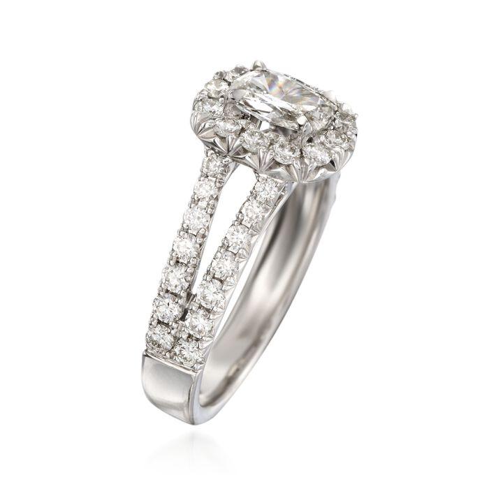 Henri Daussi 1.51 ct. t.w. Diamond Engagement Ring in 18kt White Gold