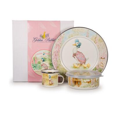 "Golden Rabbit ""Jemima Puddle"" 3-pc. Child's Dinnerware Gift Set, , default"