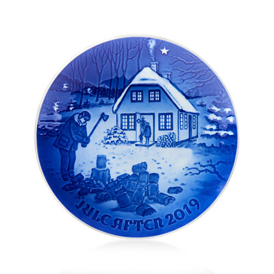 Bing & Grondahl 2019 Annual Porcelain Christmas Plate - 125th Edition, , default