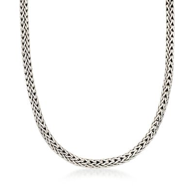 "Phillip Gavriel ""Woven"" Sterling Silver Link Necklace, , default"