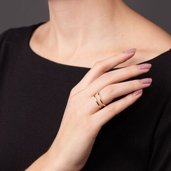 14kt Yellow Gold Two-Band Open-Space Ring, , default