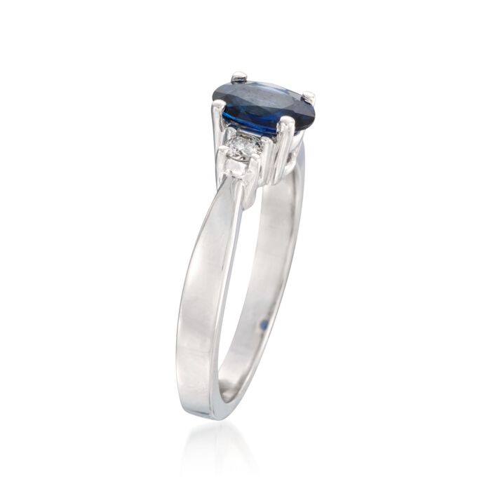 .60 Carat Sapphire and .15 ct. t.w. Diamond Ring in 14kt White Gold